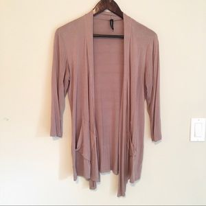 Jason Maxwell Tan Cardigan Large